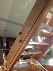 Glass railings for stairs,frameless
