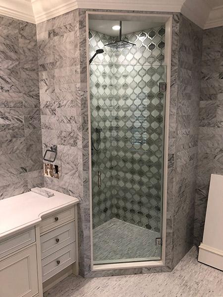 neo angle shower glass nearseamless glass shower panel